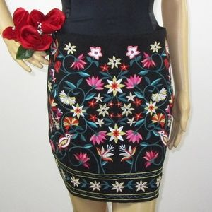Altar'd State Embroidered Mini Skirt NWT Size S